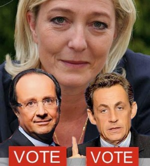 M.Le Pen, F.Olandas, N.Sarkozi | Alkas.lt fotomontažas