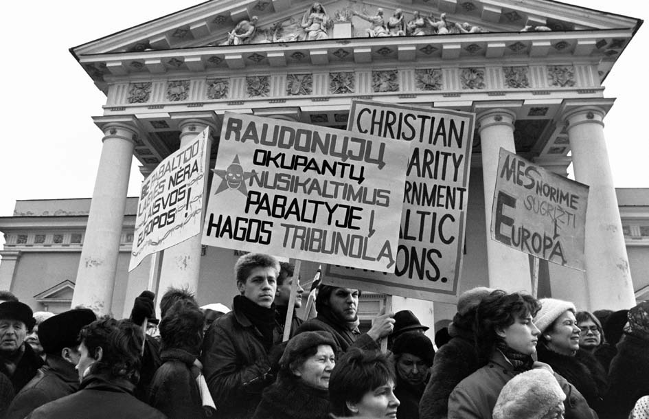 1989 m vasaris. Vilnius. Iškilmės Katedros grąžinimo tikintiesiems ir jos įšventinimo proga.