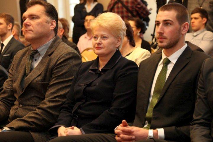 Dalia Grybauskaitė su A.Saboniu ir J.Valančiūnu | lrp.lt nuotr.