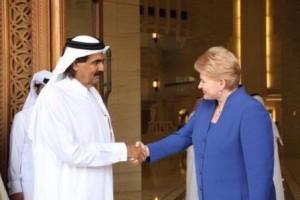 D.Grybauskaitės vizitas Katare. Prezidentūros nuotr.