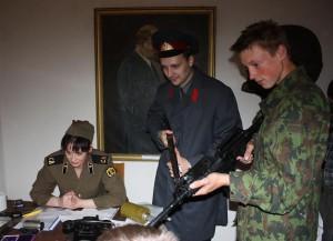 Šilutės muziejaus sovietinių represijų inscenizacija. Dariaus Barasos nuotr.