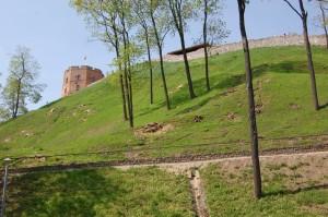 Gedimino pilies kalno fragmentas. 2012m. Vaizdas is pietu puses