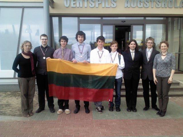 Baltijos šalių informatikų olimpiada, Lietuvos komanda   Organizatorių nuotr.