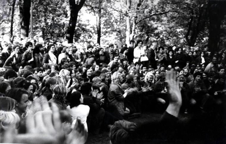 Kauno jaunimo protesto demonstracija 1972 m. gegužės 18 d. Kauno miesto sode | Lietuvos ypatingojo archyvo nuotr.
