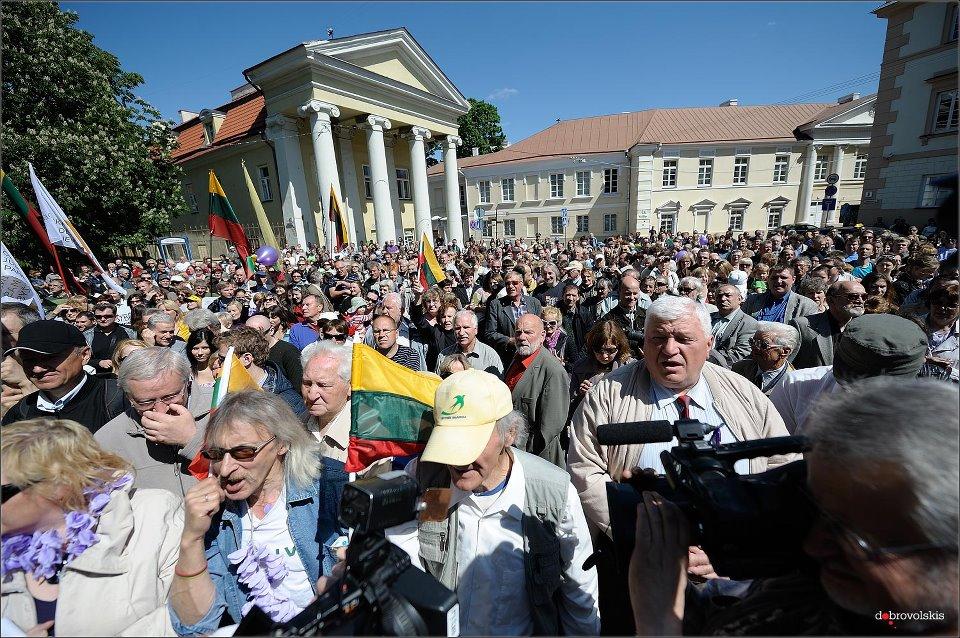 Mitingas prie Prezidentūros | V.Dobrovolskio nuotr.