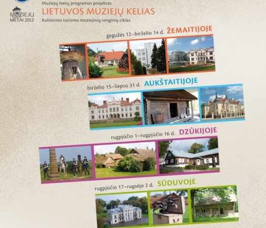Muziejų kelio plakatas