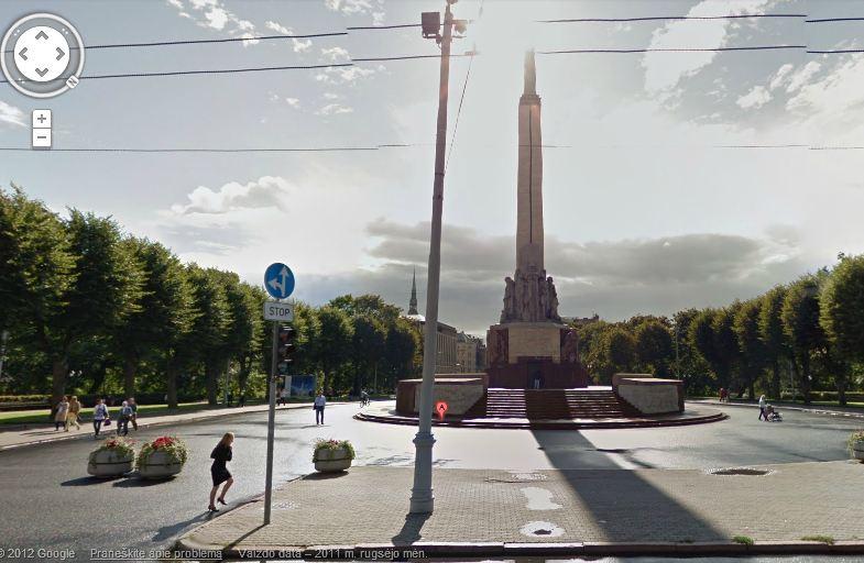 """Jau galime virtualiai nukeliauti apžiūrėti kad ir Rygoje esančio Laisvės paminklo. """"Google"""" nuotr."""