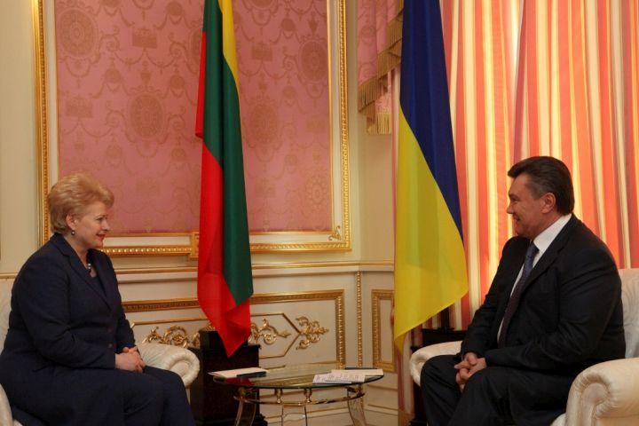 D.Grybauskaitė ir V.Janukovičius | lrp.lt, Dž.Barysaitės nuotr.