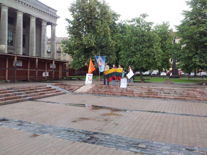 N.Venckienės šalininkai piketuoja prie Seimo 2012 06 26 d. | Alkas.lt nuotr.