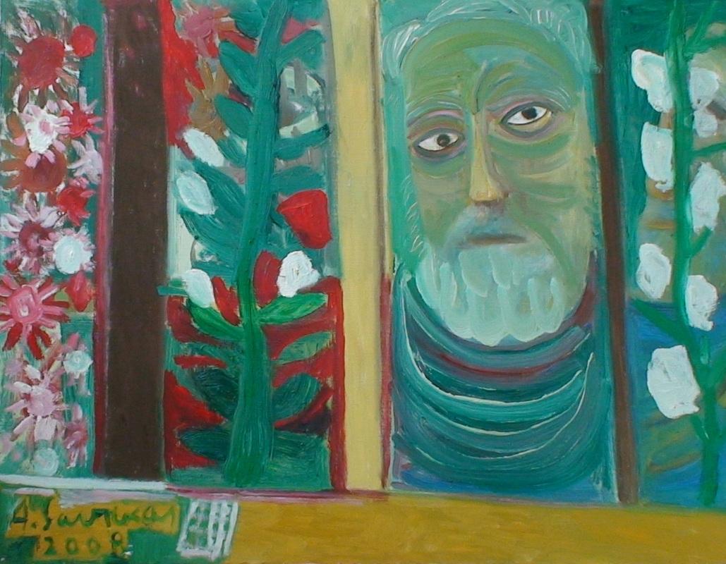 Augustinas Savickas, Autoportretas pavasarį, 2008 m. | savickogalerijoskolekcija.weebly.com nuotr.