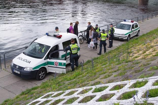 Kaune policininkai neliko stebėtojais... | Edvino Marčenkovo nuotrauka