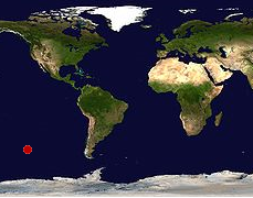 Taip Nemo taškas atrodo dvimačiame žemėlapyje | regardsurlemonde.fr