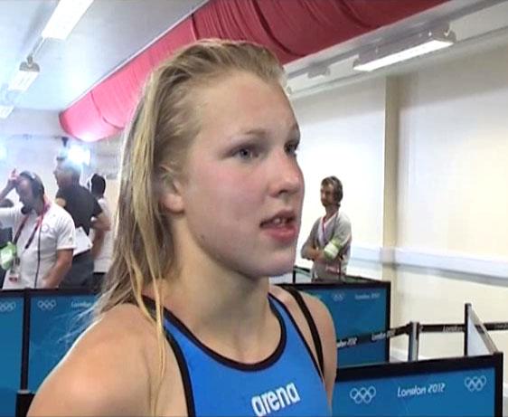 Rūta Meilutytė po rekordinio plaukimo | LRT stop kadras