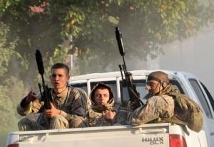 """Gruzijos pajėgos. """"AFP/Skanpix"""" nuotr."""