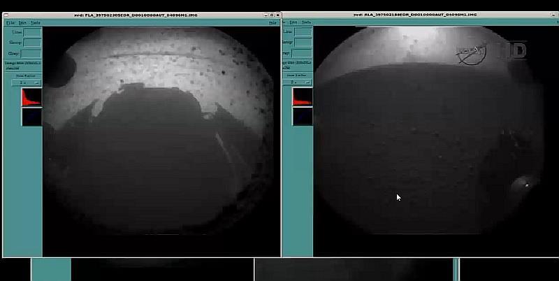 Pirmosios Marso paviršiaus nuotraukos. NASA nuotr.
