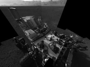 """""""Curiosity"""" autoportretas. NASA nuotr."""
