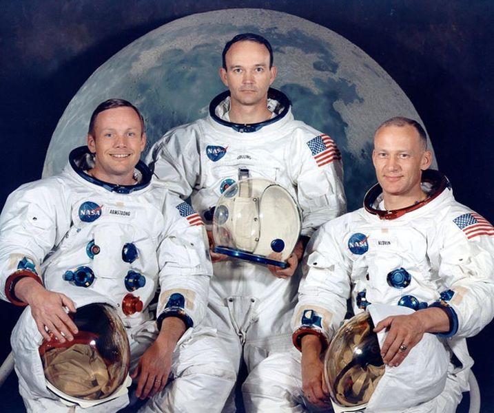 Mėnulio didvyriai (iš kairės į dešinę): Nilas Armstrongas, Maiklas Kolinsas, Edvinas Oldrinas | wikipedia.org nuotr