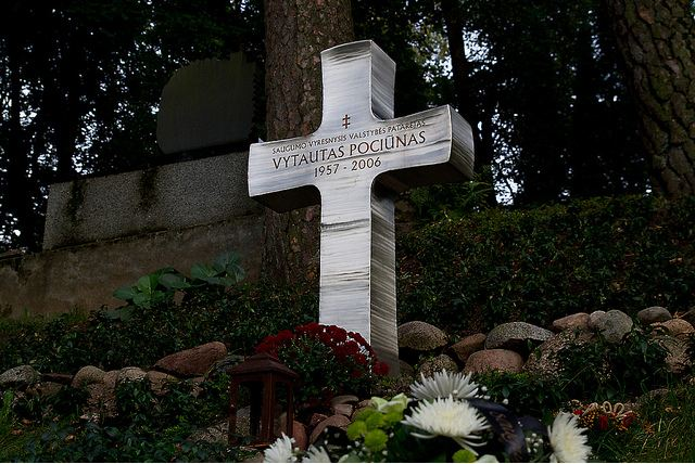 Vytauto Pociūno kapas. J.Juodišiaus nuotr.