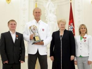 Olimpiečių apdovanojims prezidentūroje | lrp.lt nuotr.