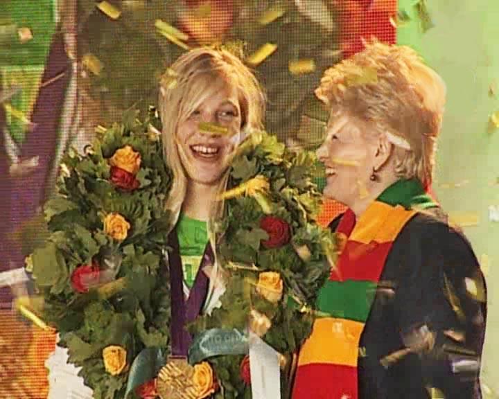 Rūtą Meilutytę sveikina Dalia Grybauskaitė | Alkas.lt nuotr.