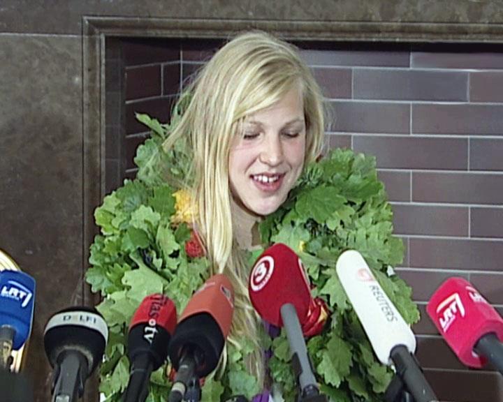 Rūta Meilutytė atsako į žurnalistų klausimus | Alkas.lt nuotr.