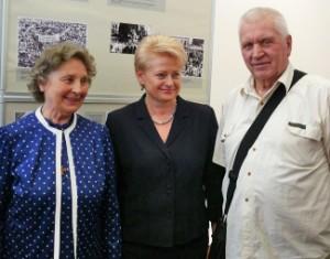 N.Sadūnaitė, D.Grybauskaitė ir A.Terleckas | Genocid.lt nuotr.