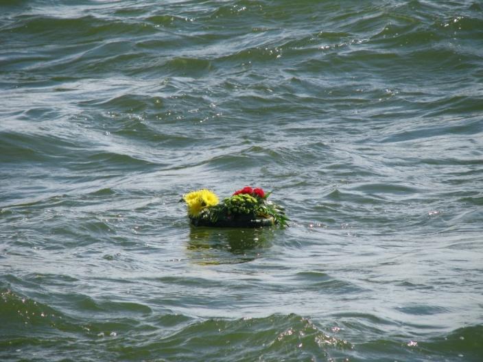 Žuvusiųjų  jūroje pagerbimo ceremonija | M.Jasmonto nuotr.