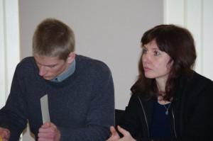 L.Šulcienė su atstovu – advokato padėjėju Eimantu Dambrausku. E.Marčenkovo nuotr.