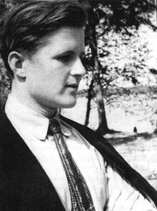 Norbertas Vėlius studentas 1958 m.