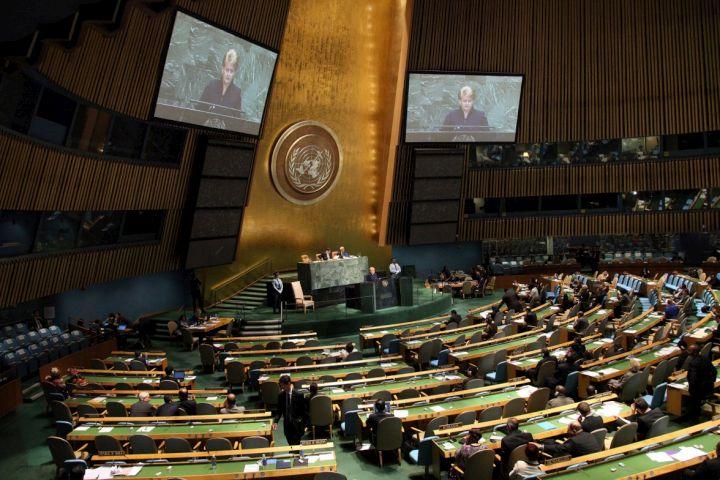 D.Grybauskaitė kalba JT Generalinėje Asamblejoje | lrp.lt nuotr.
