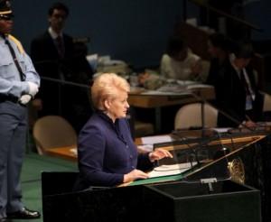 Dalia Grybauskaitė JT asamblėjoje | lrp.lt nuotr.