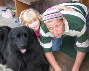 Vytautas V. Landsbergis su dukra Severija ir Bete | asm. nuotr.