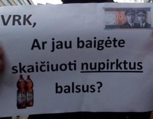 Protestas prie VRK | Alkas.lt, A.Rasakevičiaus nuotr.