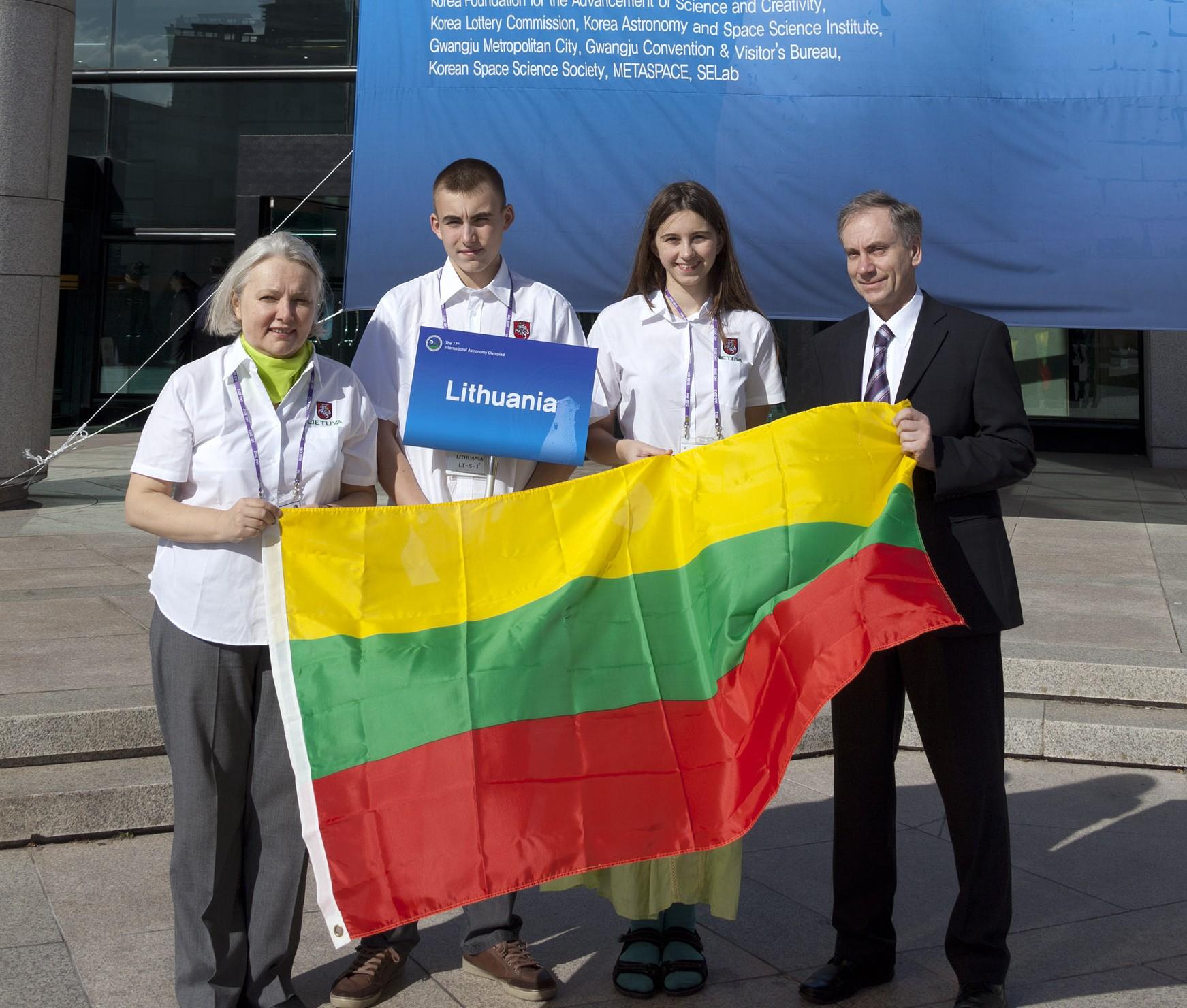 Lietuvos jaunųjų astronomų komanda