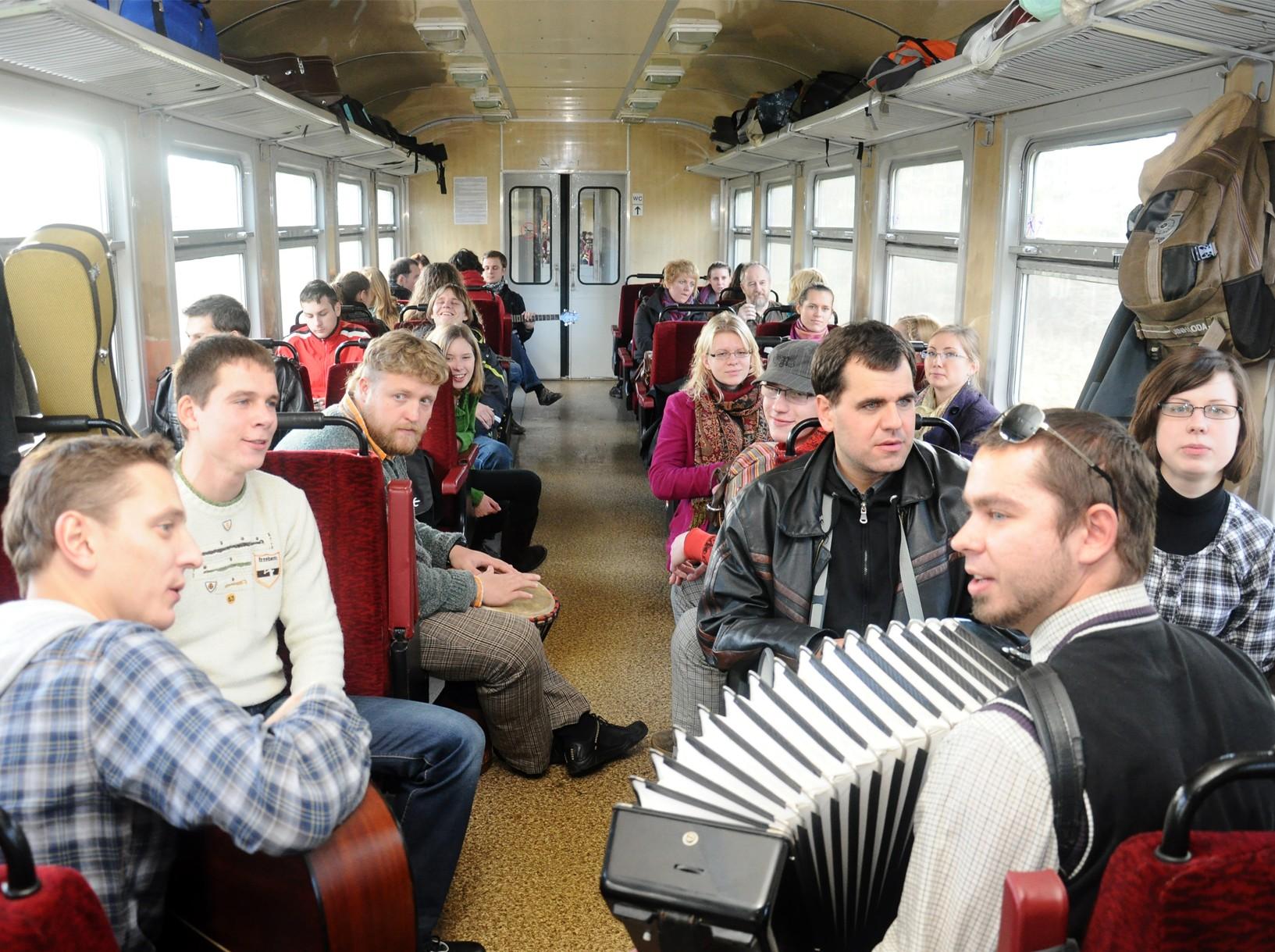 Bardai vagone | organiz. nuotr.