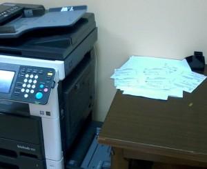 Pagėgių savivaldybėje prie savivaldybės spausdintuvo buvo pastebėti šūsnis pavyzdiniu rinkimu biuletenių, už ką reiktų balsuoti