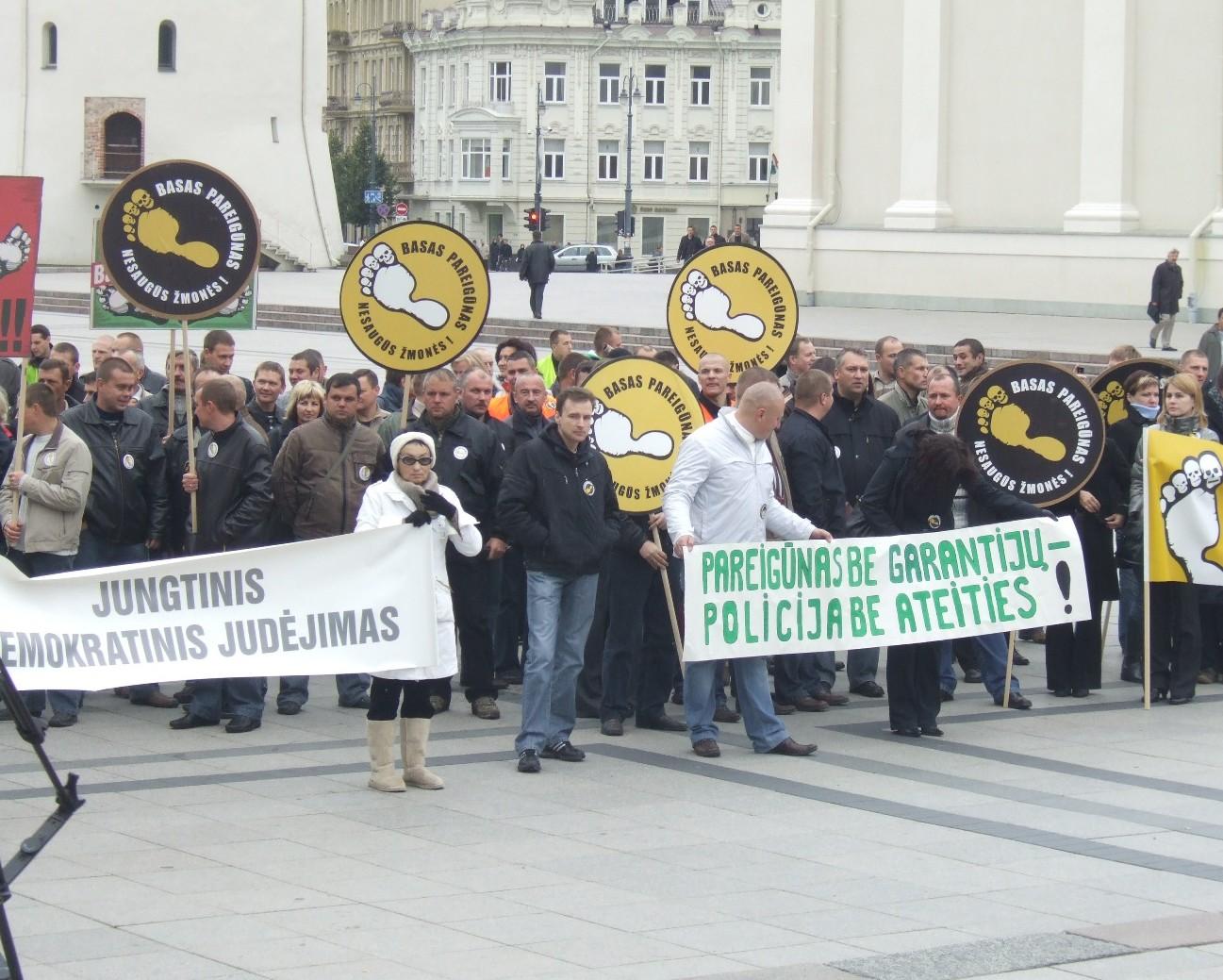 Pareigūnų protesto akcija | www.pareigunai.lt nuotr.