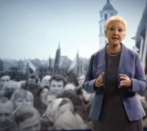 I.Degutienė TS-LKD politinėje reklamoje