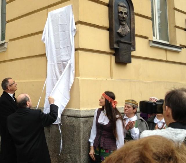 Kijeve atidengiama memorialinė lenta Maironiui | urm.lt nuotr.