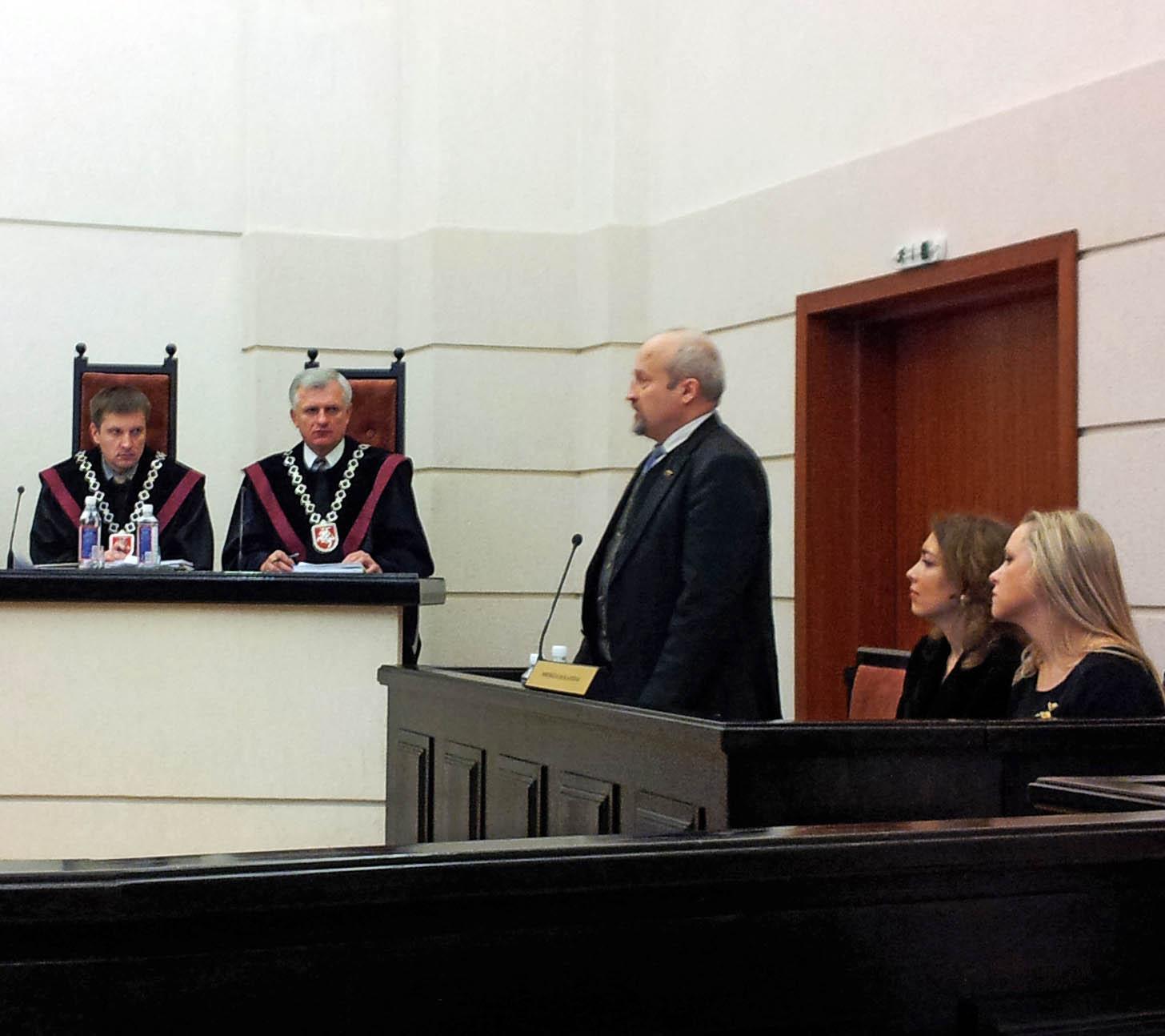 Seimą Konstituciniame teisme atstovavo Tautininkų sąjungos pirmininkas Gintaras Songaila | Alkas.lt, A.Rasakevičiaus nuotr.