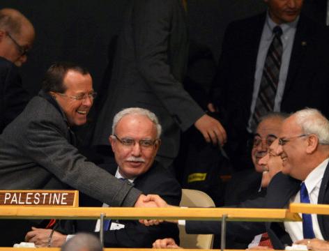 Palestiniečių priėmimas į JTO | Alkas.lt nuotr.