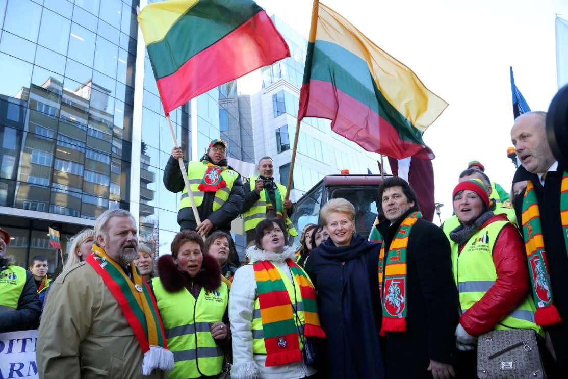Prezidentė padėkojo Lietuvos ūkininkams už paramą derybose | Dž.Barysaitės, lrp.lt nuotr.