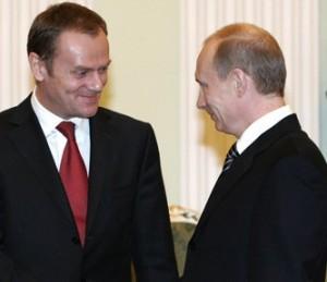 D.Tuskas ir V.Putinas   new.org.pl nuotr.