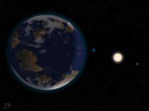 Atrastoji planeta dailininko akimis    J.Pinfieldo nuotr.