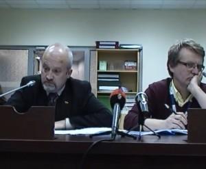 G.Songaila ir S.Gorodeckis VRK posėdyje | Alkas.lt nuotr.