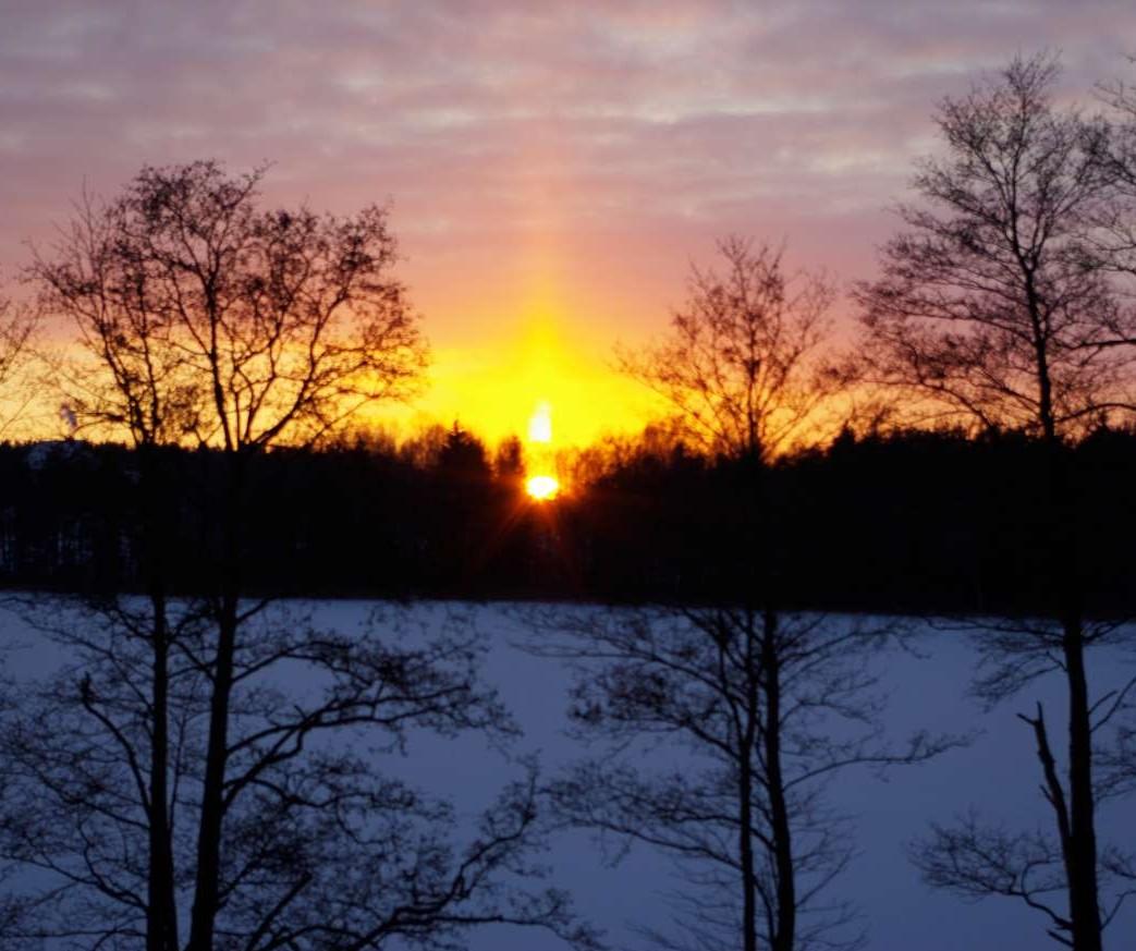 Saulės stulpai | J.Vaiškūno nuotr.