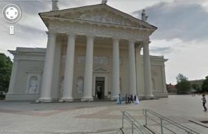Prie Vilniaus Katedros užfiksuotos vestuvės