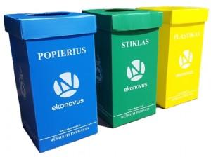 Vidaus patalpų atliekų rūšiavimo dėžutės