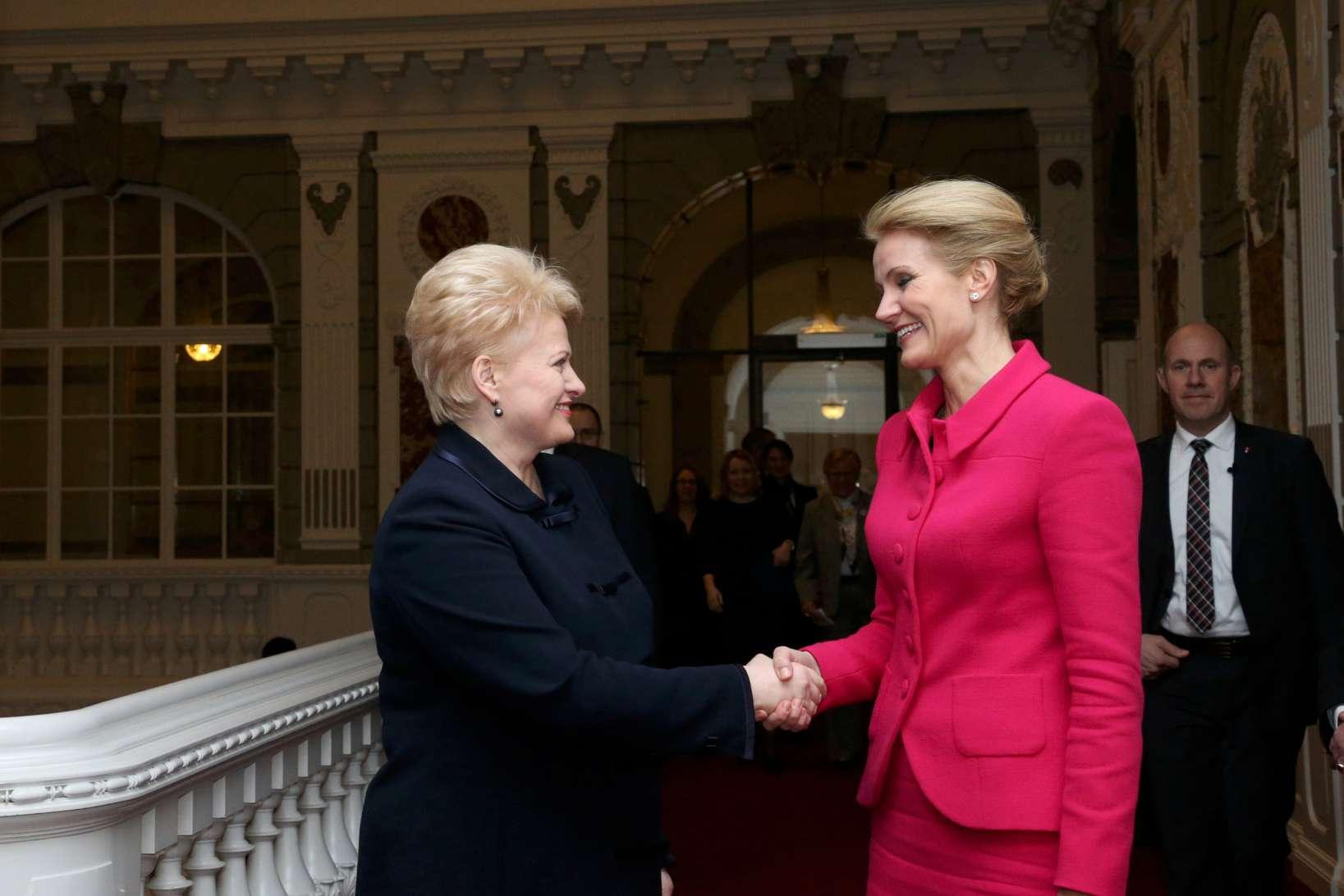 Prezidentė susitiko su Ministre Pirmininke Hel Torning-Šmit | lrp.lt,  Dž.G.Barysaitės nuotr.