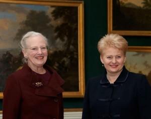 Lietuvpos Prezidentė Dalia Grybauskaitė ir Danijos Karalienė Margretė II | lrp.lt, Dž.Barysaitės nuotr.